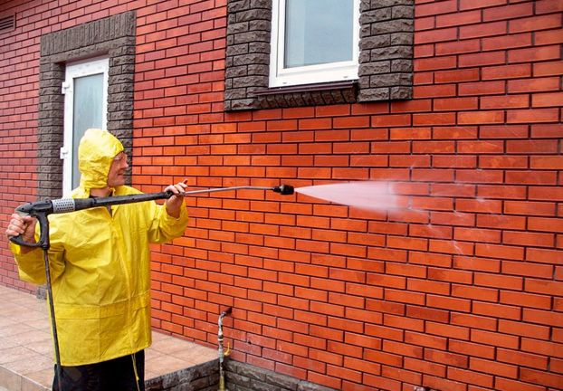 removing efflorescence from brick indoors and outdoors