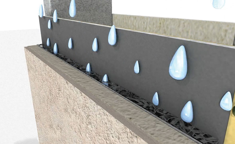 used as retaining wall waterproofing membrane